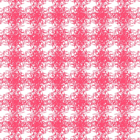 interweaving: Abstract seamless pink interweaving cluster patterns on white background Stock Photo