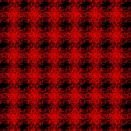 interweaving: Abstract seamless red interweaving cluster patterns on black background Stock Photo