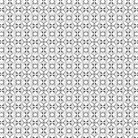 Black floral patterns on white background Stock Photo