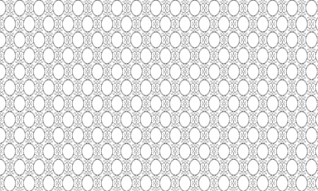 fine tip: Abstract vintage black floral patterns on wide white background with empty egg shapes