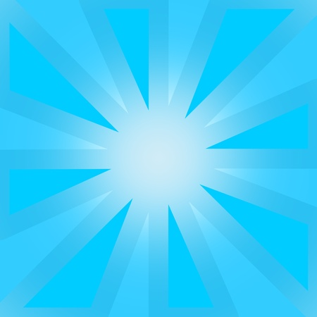 Abstract blue sunburst with wide sharp angles photo