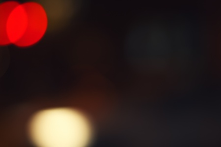 Blurred red and yellow lights background with copy space photo