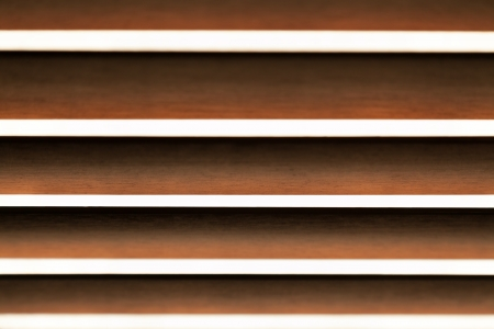Abstract wooden horizontal blinds with selective focus