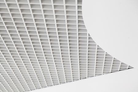 Abstract square mesh ceiling background