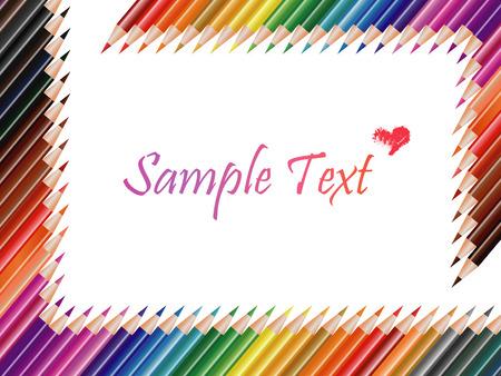 Composición de lápices de colores Foto de archivo - 25338412