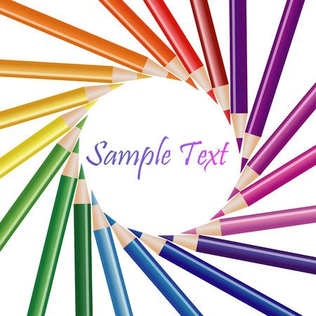 Composición de lápices de colores Foto de archivo - 25338416
