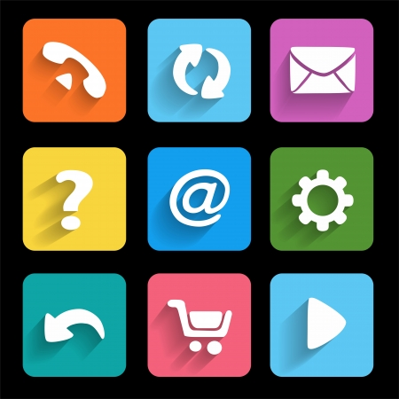 manage: Icons  Metro style  Interface mobile applications