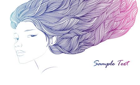 femininity: Girl, hair and flowers  Beauty and Fashion