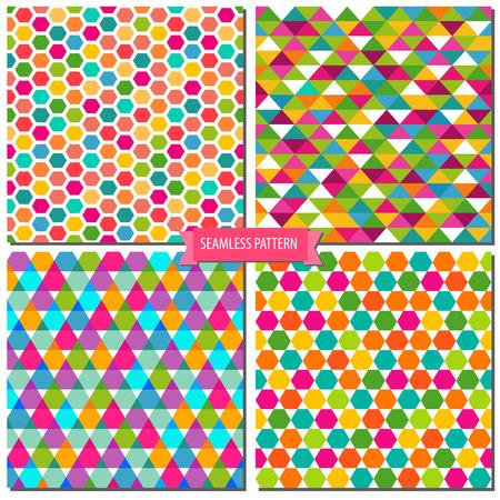abstracte vormen: Vector textuur met abstracte vormen zijn kleurrijk naadloos patroon