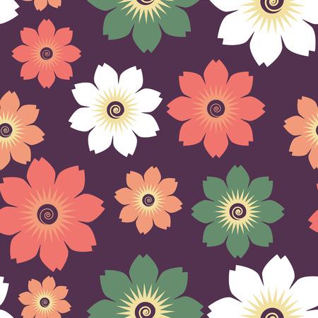 background decorative: Flowers seamless pattern  A colorful background  Decorative