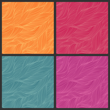 leaflets: Abstract colorful background  Hand-drawn waves  Vector