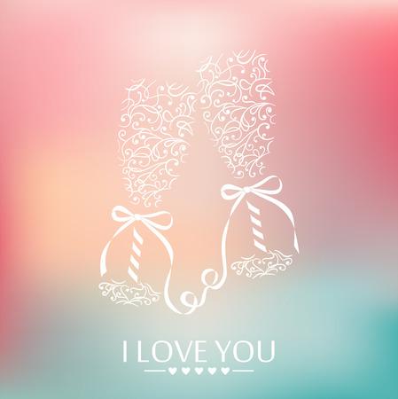 congratulate:  Festive vector background  Pastel colors
