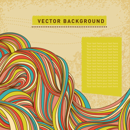 fabric samples: Vector  wave hand-drawn pattern Illustration