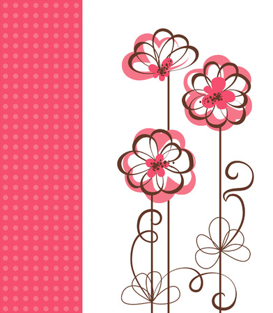 Vector  floral greeting card  Background with floral ornament