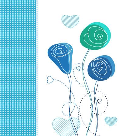 blumen verzierung: Vector floral Gru�karte Hintergrund mit floralen Ornament Illustration