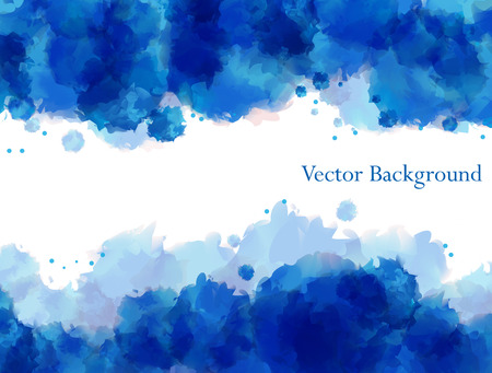 aquarelle: Vector blue watercolor background for textures and backgrounds