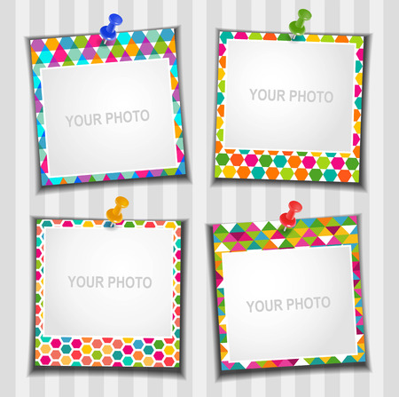 The composition photo frames  Vector illustration  Scrapbooking  Ilustração