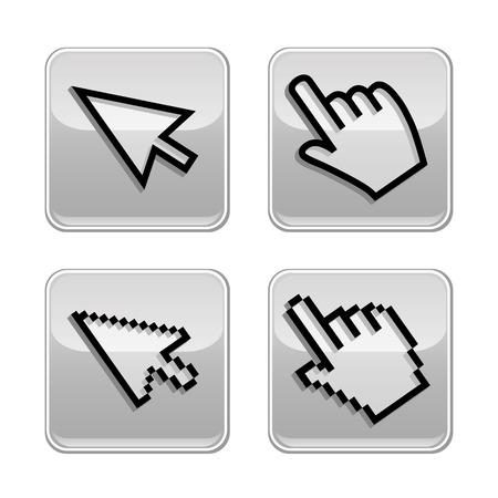 mouse cursor: Vector illustration hand cursor mouse  Mobile application