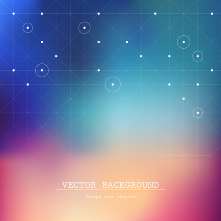 Blurred background  Web and mobile template  Website icons template  Vector