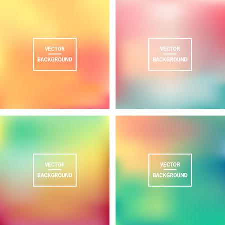 Abstracte kleurrijke wazig vector achtergronden Elementen voor uw website of presentatie Stock Illustratie