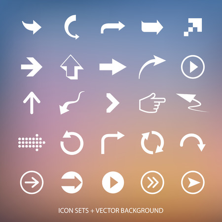 Vector design elements  Arrows signs and vector background Vector