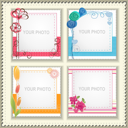 Festive photo frame  Love and friendship  Scrapbooking  ideas  向量圖像