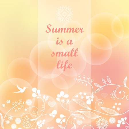 modish: Summer vector background  Blurred pastel colors   Greetings  card  Template   Ideas for your business