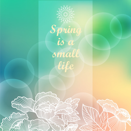 modish: Spring vector background  Blurred pastel colors   Greetings  card  Template   Ideas for your business