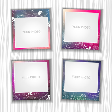 Photo frame on a colorful background  Иллюстрация