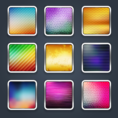 Icon sets for mobile application interface  Buttons Stock Vector - 28910849