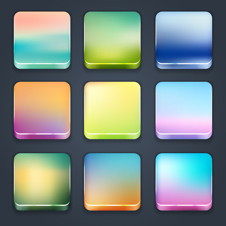 Icon sets for mobile application interface  Buttons Stock Vector - 28910858