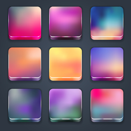 Icon sets for mobile application interface  Buttons Stock Vector - 28910862