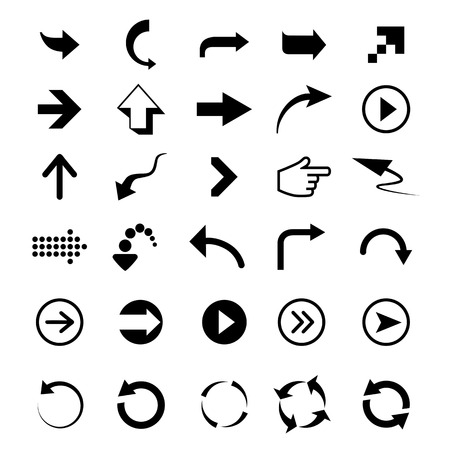 Arrows signs on a white background Vector