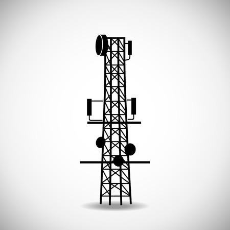 radio tower: Enhancing cellular communication  Icons on white background