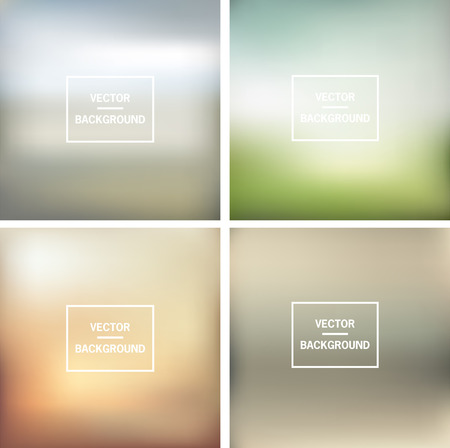 Abstract colorful blurred vector backgrounds  Vector timeline template   Vector