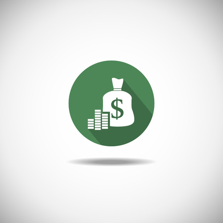 attain: Business and Finance  Minimalist Icon on a white background Illustration