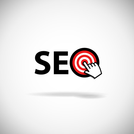 Achieving goal  SEO   Vector image over white background  Vector