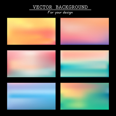 Abstract colorful blurred vector backgrounds   Vector