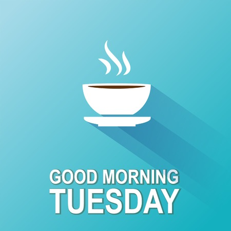 Text good morning Thursday on a blue backgroundΠVector