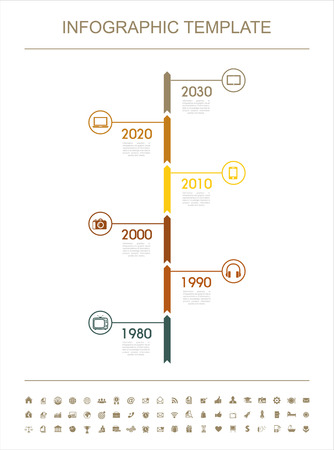 InfographicTimeline Infographic with diagrams  Vector