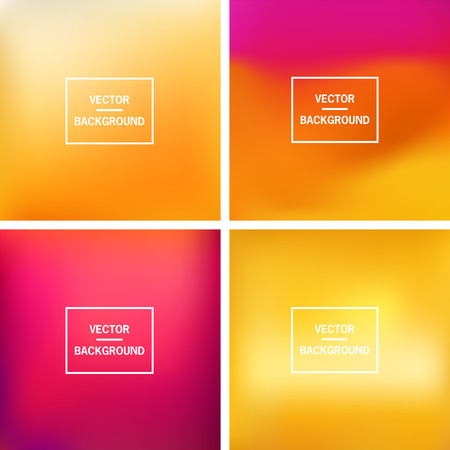 red and yellow: Abstract colorful blurred vector background. Illustration