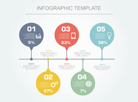 sectors: Сolorful infographic elements  Vector design template  Time Illustration