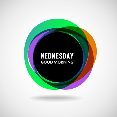 good morning: Good Morning Wednesday  Abstract background  Vector  Day of the weekΠIllustration
