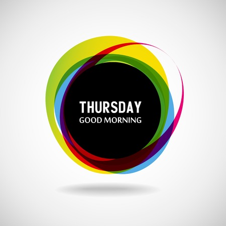 Good Morning  Thursday  Abstract background  Vector  Day of the week Vector