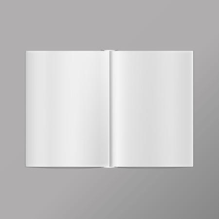 open diary: Isolated blank book on a white background Illustration