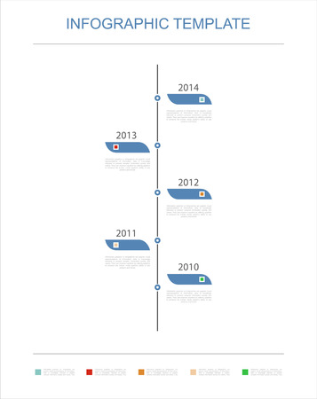vertical bars: Timeline Infographic template with charts and text for your business Illustration