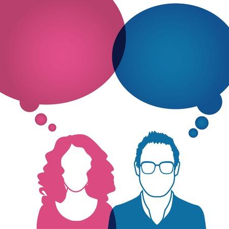Mannen en vrouwen avatar profielfoto ingesteld.