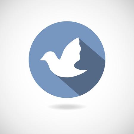 followers: Uccello icona social media. Web elemento di disegno vettoriale su sfondo bianco.