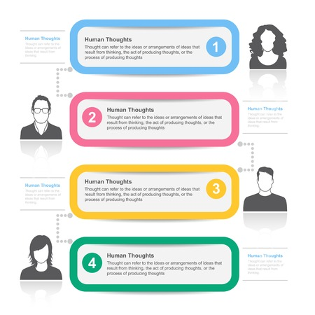 bubble speech: People template infographics.