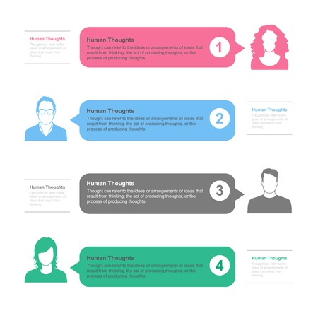 idea bubble: People template infographics. Illustration